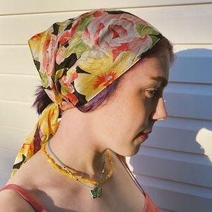 Vintage 100% silk scarf